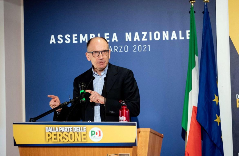 Enrico Letta domenica all'assemblea Pd