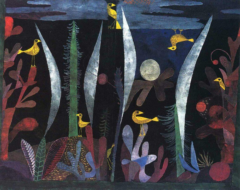 Paul Klee, «Paesaggio con uccelli gialli», 1923