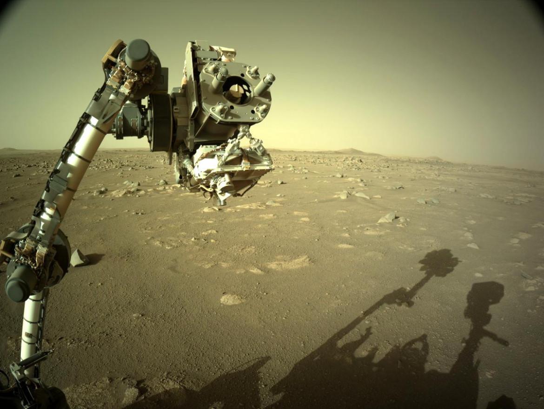 Un'immagine del Perseverance su Marte