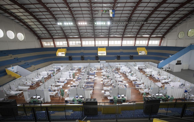 Il palazzo dello sport di Santo André, nell'hinterland di São Paulo, trasformato in