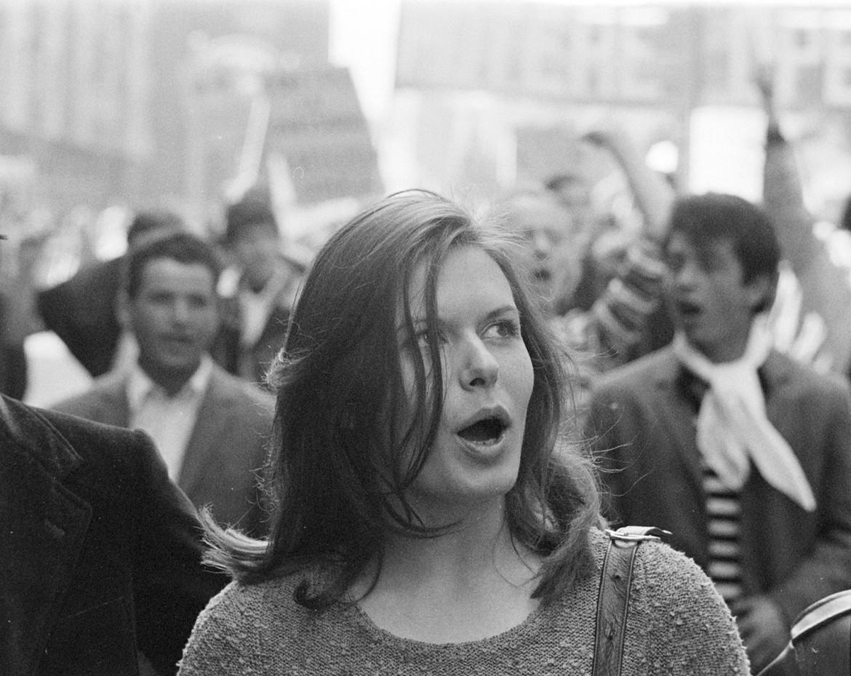 Manifestazione a Torino 1969/70 foto di Mauro Vallinotto, Ansa
