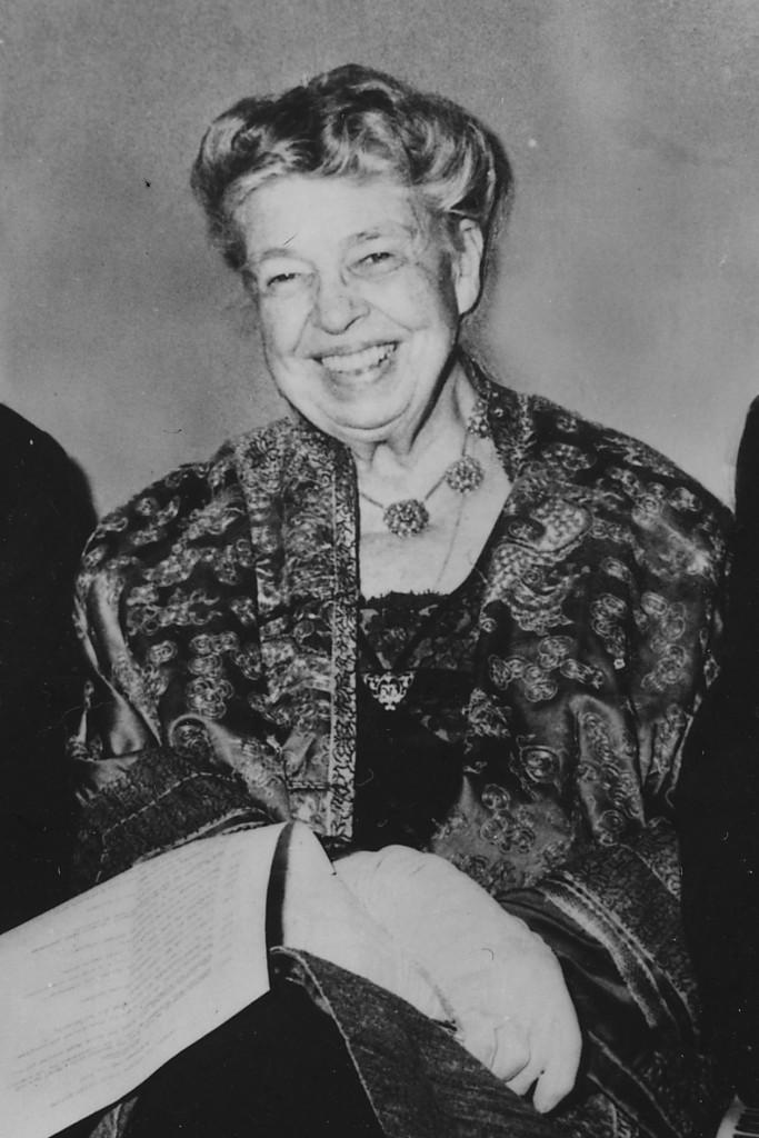 Eleanor Roosevelt e sopra con il marito