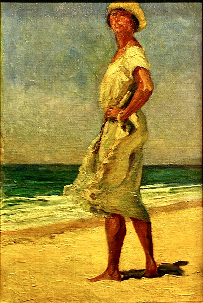 Woman at the beach (c.1920) - Adriano de Sousa Lope
