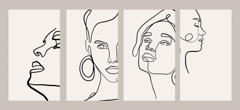Ritratto di donna, disegno, Shutterstock Inc.