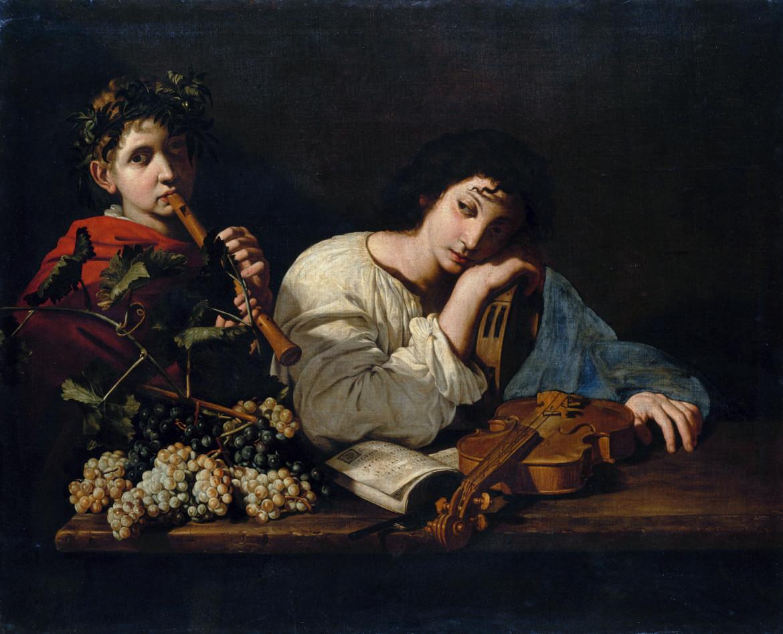 Maestro della Natura morta Acquavella (Bartolomeo Cavarozzi?), Lamento di Aminta, 1614-'15, collezione privata