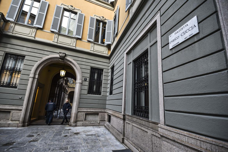 piazzetta Enrico Cuccia, sede Mediobanca