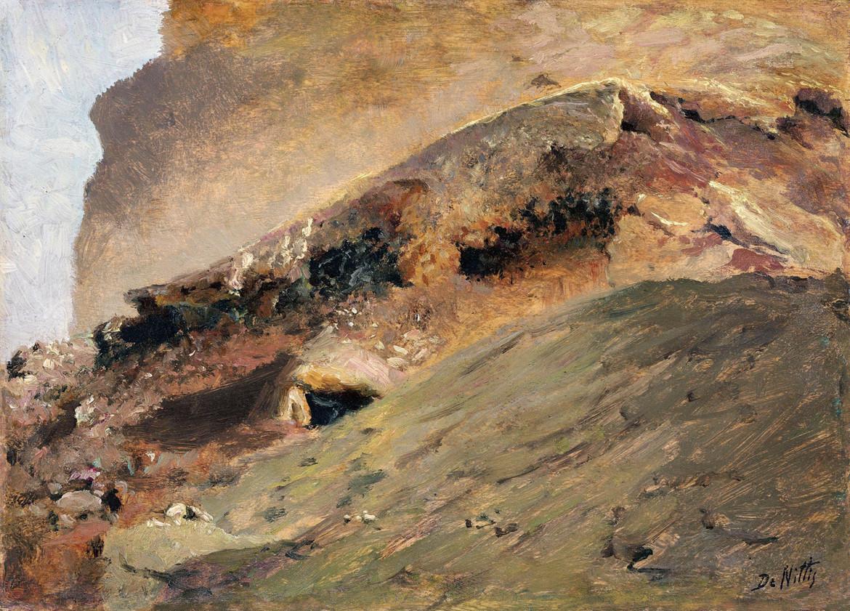 Giuseppe De Nittis, Flussi di lava, Vesuvio, 1872, coll. privata
