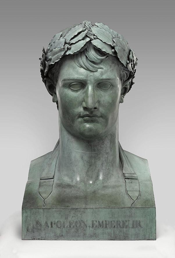Lorenzo Bartolini, Busto di Napoleone I Imperatore, bronzo, 1805, Parigi, Louvre