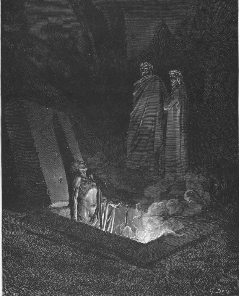 Farinata degli Uberti nell'incisione di Gustave Doré
