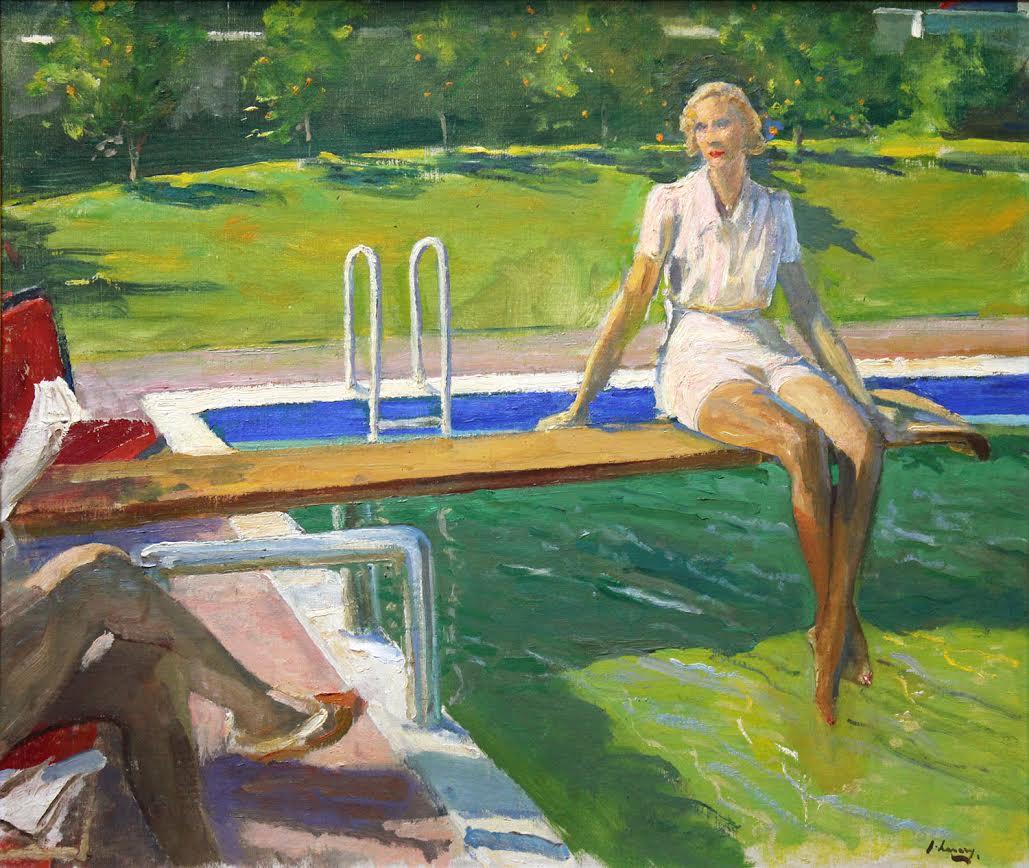 John Lavery, «The viscountess Castelrosse, Palm Springs», 1938