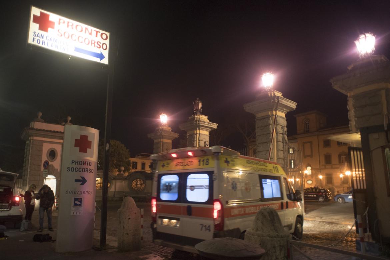 L'esterno dell'ospedale San Camillo di Roma