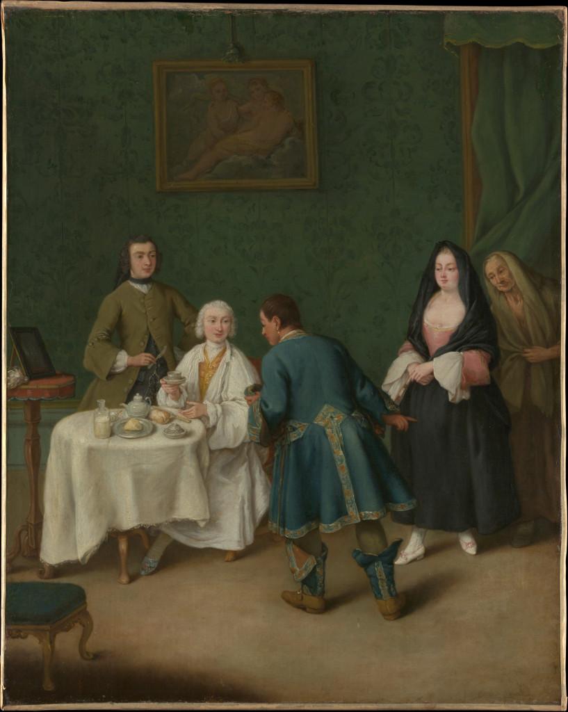 Pietro Longhi, The Temptation, 1746, New York, Metropolitan Museum of Art
