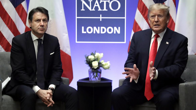 Dicembre 2019, Conte e Trump al vertice Nato nel Regno unito