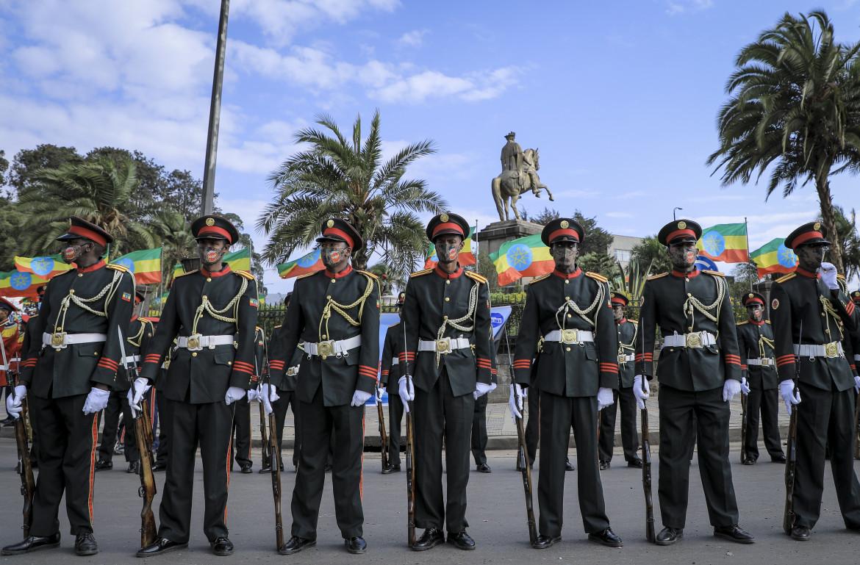 Addis Abeba, 2 marzo 2021. Parata a festa nel giorno in cui l'Etiopia celebra la vittoria di Adua sulle truppe italiane nel 1896
