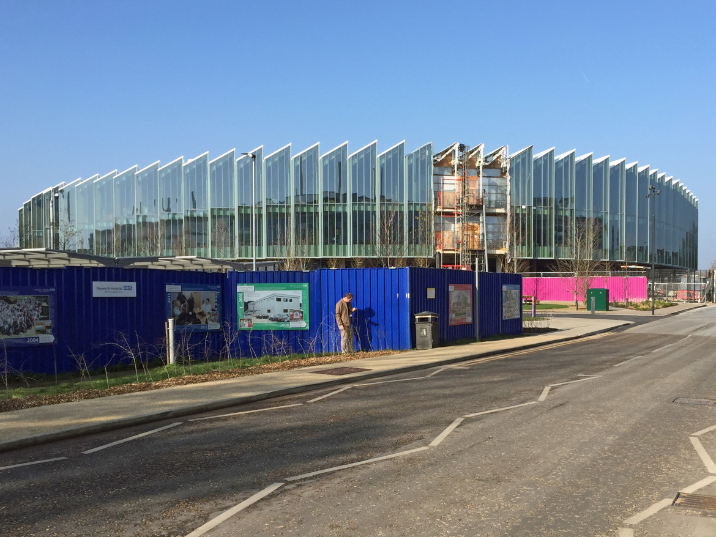 L'hub biomedicale di AstraZenica in costruzione a Cambridge nel 2019