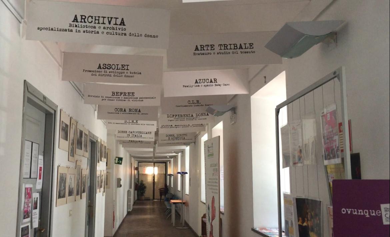 In foto un interno della Casa internazionale delle donne di Roma