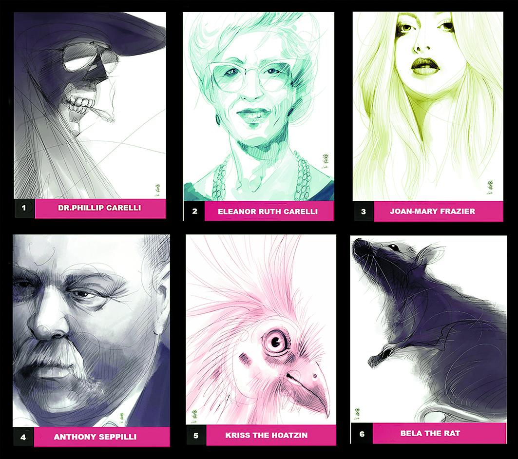 Characters Promotional Cards; illustrazione di  Gianluca Garofalo