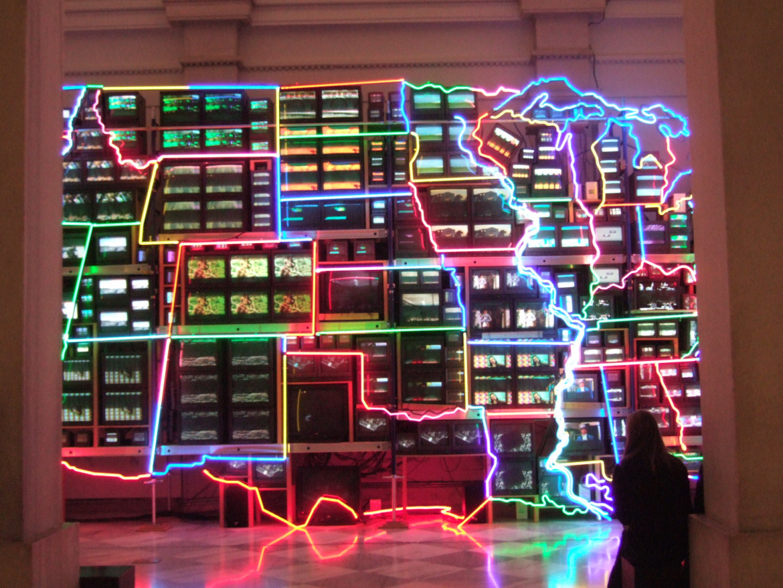 Nam June Paik's Electronic Superhighway (Continental United States, Alaska, Hawaii 1995)