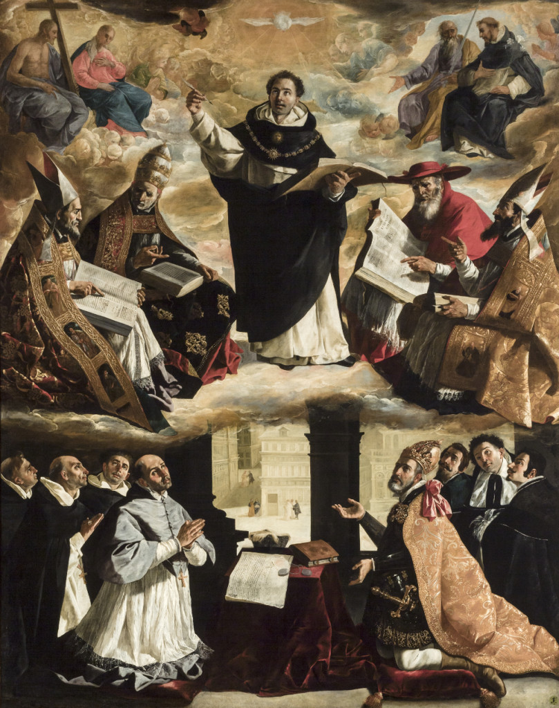 Apoteosi di San Tommaso d'Aquino di Francisco di Zurbarán (1631)