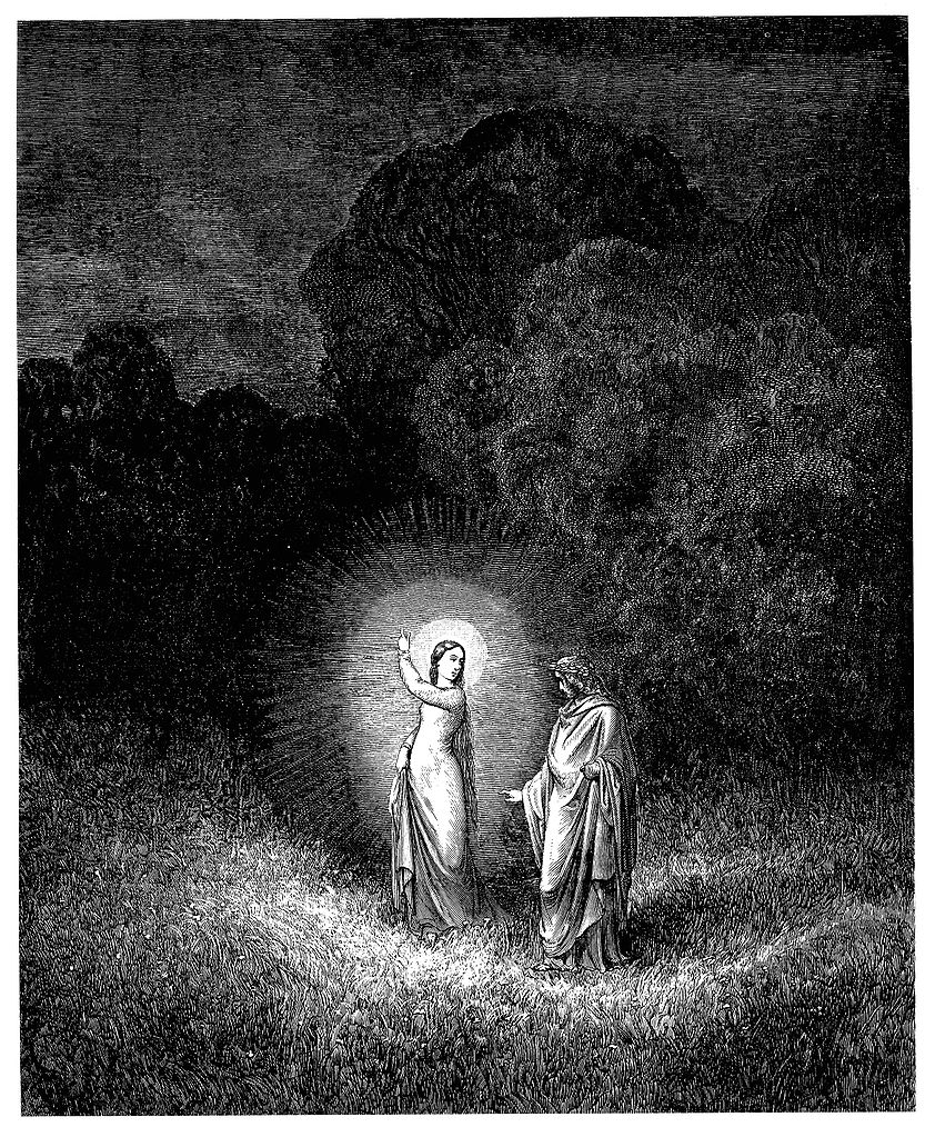 Una immagine di Gustave Dorè, Beatrice