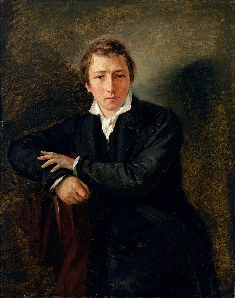 Heinrich Heine ritratto da Moritz Daniel Oppenheim, 1831