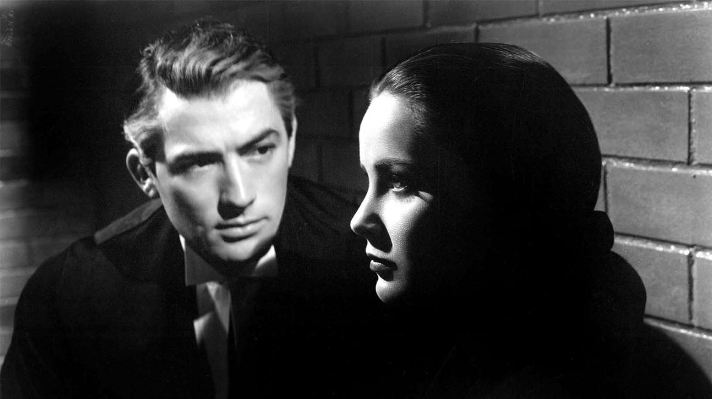 Alida Valli e Gregory Peck in «Il caso Paradine» di Alfred Hitchcock (1947)