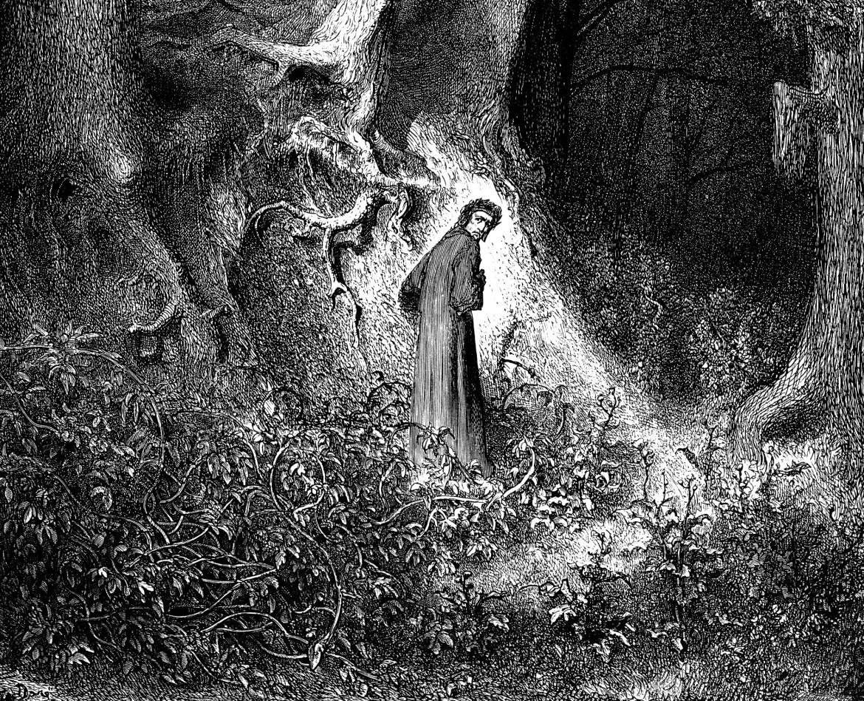 Gustave Doré, incisione per l'Inferno, 1861