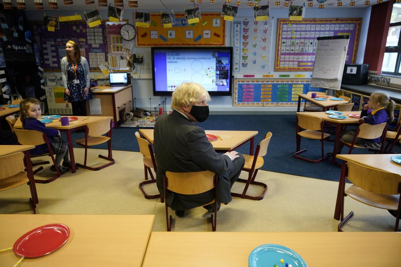 Boris Johnson in visita alla St Mary's Primary School a Stoke-on-Trent, in Inghilterra