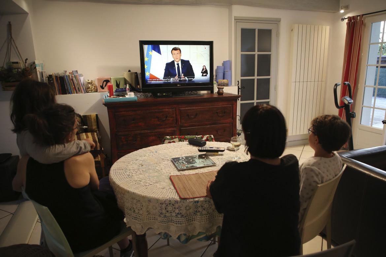 Il discorso di Macron ieri in tv