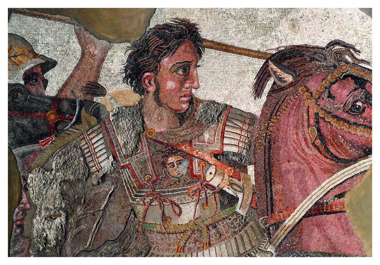 Particolare del mosaico di Alessandro