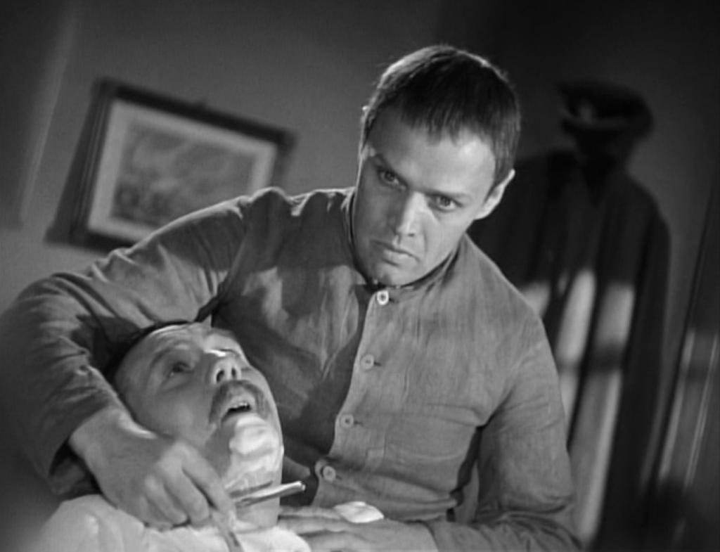 Kurt Meisel, Max Eckard in una scena di «Wozzek», regia di Georg C. Klaren, 1947