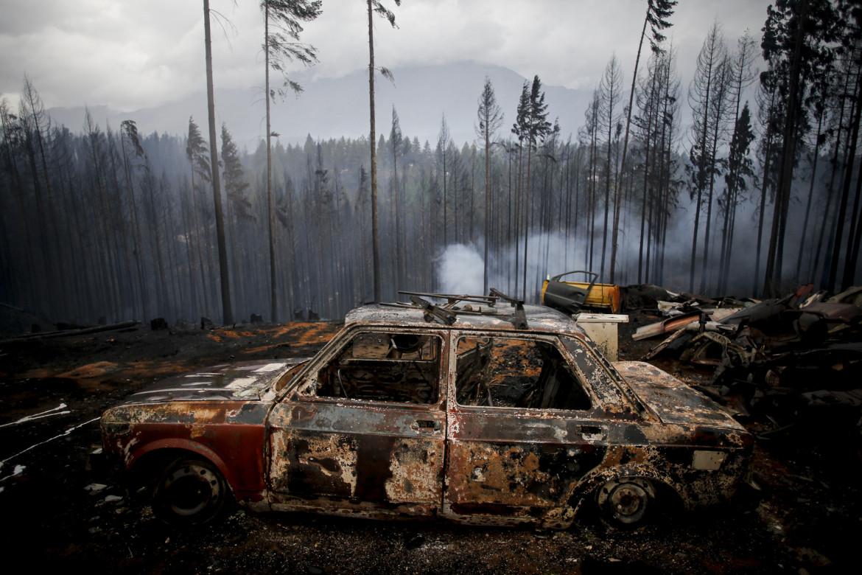 Gli effetti degli incendi degli ultimi giorni a Las Golondrinas, nella provincia rgentina di Chubut