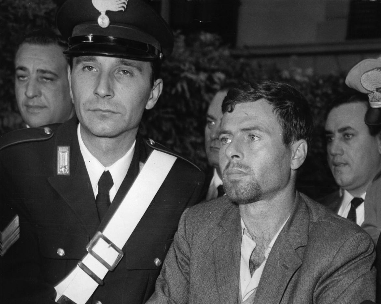 Sante Notarnicola nel 1967, al momento dell'arresto