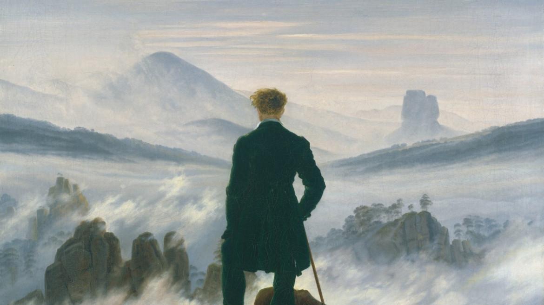 Caspar David Friedrich, Viandante sul mare di nebbia, circa 1817,