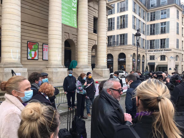 L'occupazione dell'Odéon di Parigi,  foto di Kamila Mamadnazarbekova