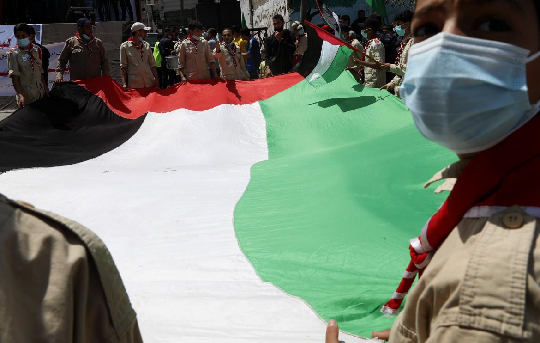 Protesta palestinese a Gaza
