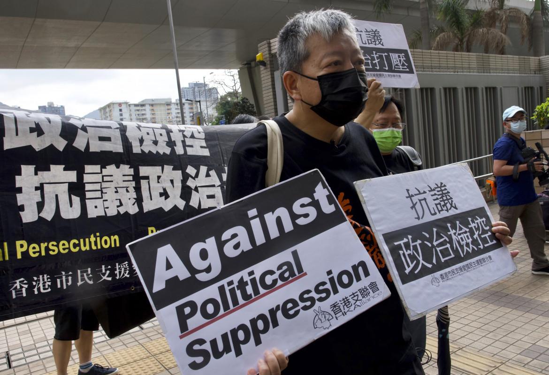 Lee Cheuk-yan, una delle attiviste condannate ieri