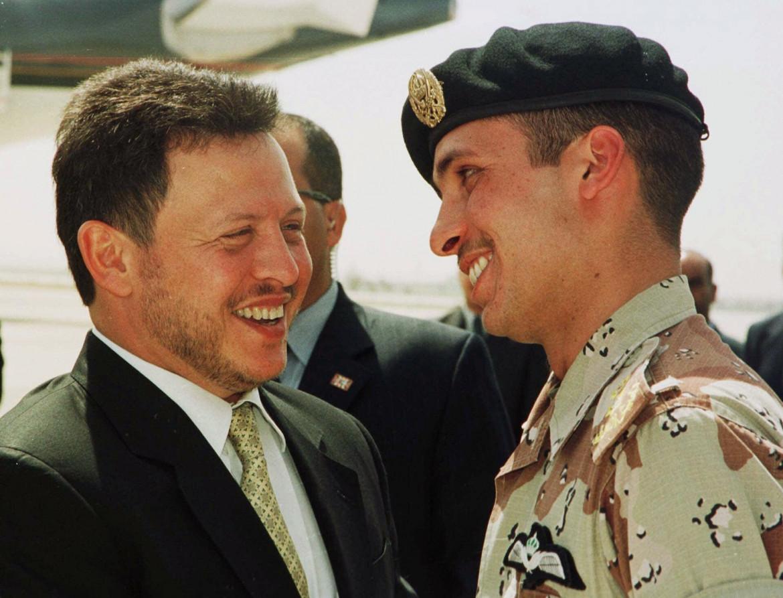Re Abdallah con il fratellastro Hamzah