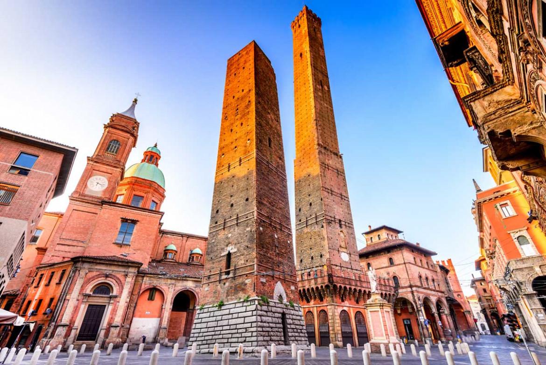 Il centro storico di Bologna