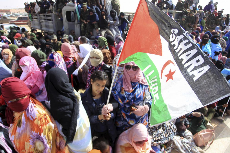 45° anniversario della Repubblica araba democratica saharawi in un campo profughi presso Tindouf, Algeria