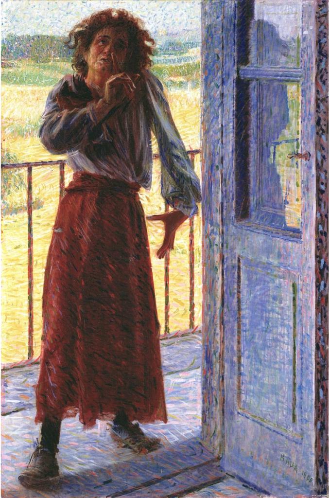 Giacomo Balla, «Polittico dei viventi: La pazza», 1905