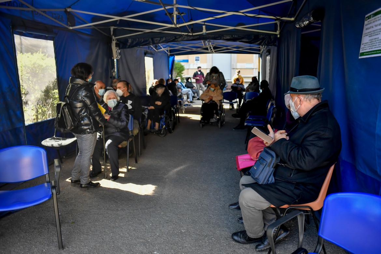 Milano. Centro vaccinale contro il covid 19 presso l'ospedale Niguarda