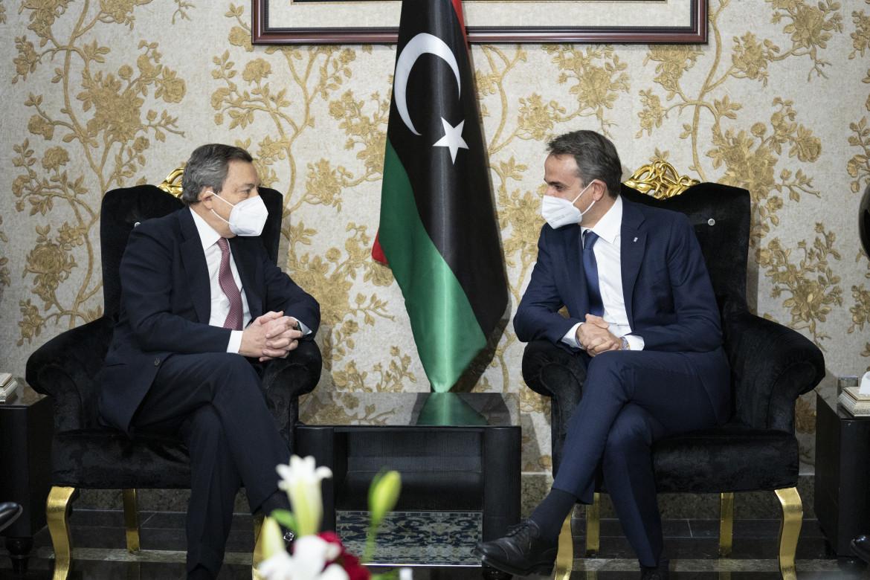 Mario Draghi in visita in Libia