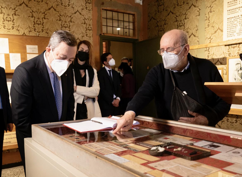 Draghi al Museo storico della Liberazione