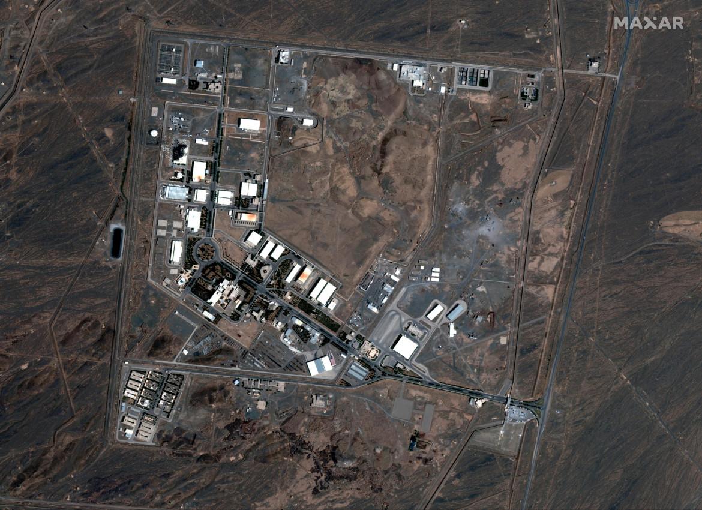 La centrale nucleare di Natanz vista dall'alto