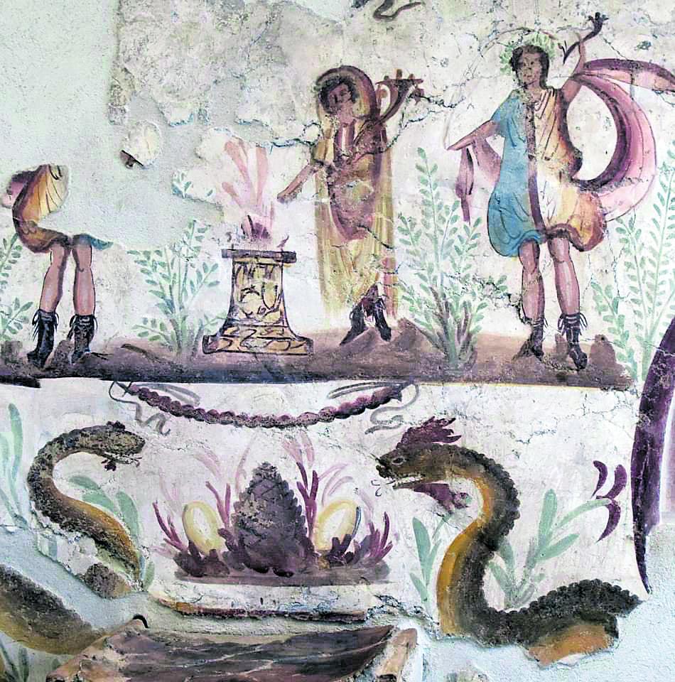 Particolare dal larario, Pompei