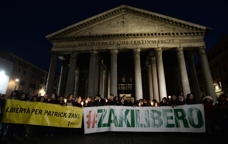 Manifestazione per la liberazione di Patrick Zaki a Roma