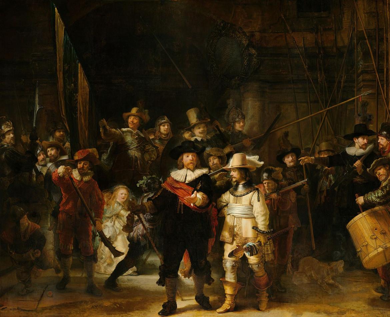 Rembrandt, «De Nachtwacht» (1642), ora al Rijksmuseum di Amsterdam