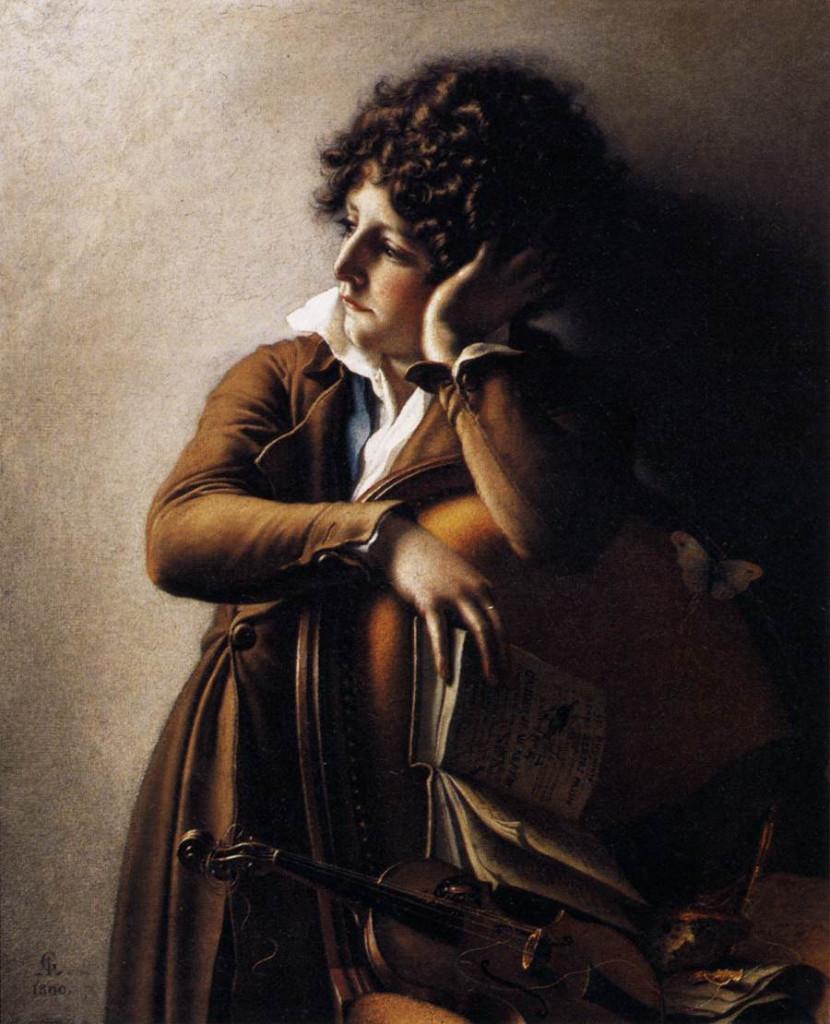 Anne-Louis Girodet  de Roussy-Trioson,  Ritratto di Benoît-Agnes Trioson detta «Ruehaus», 1800