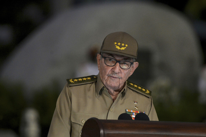 Raúl Castro durante il suo discorso trasmesso in televisione a Cuba